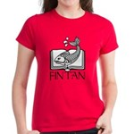 Fin Tan W/B Women's Dark T-Shirt