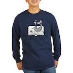 Fin Tan W/B Long Sleeve Dark T-Shirt