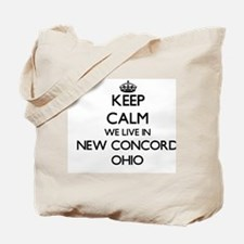 Keep calm we live in New Concord Ohio Tote Bag
