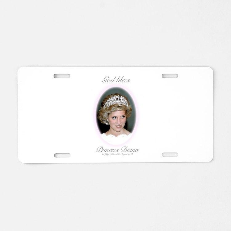 God Bless Princess Diana Aluminum License Plate
