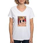 SARA & PET DOG Women's V-Neck T-Shirt