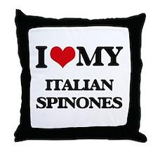 I love my Italian Spinones Throw Pillow