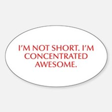 I m not short I m concentrated awesome-Opt red Sti