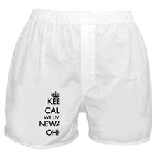 Keep calm we live in Newark Ohio Boxer Shorts
