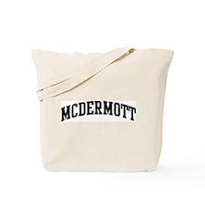 MCDERMOTT (curve-black) Tote Bag
