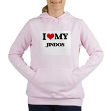 I love my Jindos Women's Hooded Sweatshirt