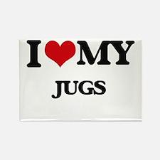 I love my Jugs Magnets