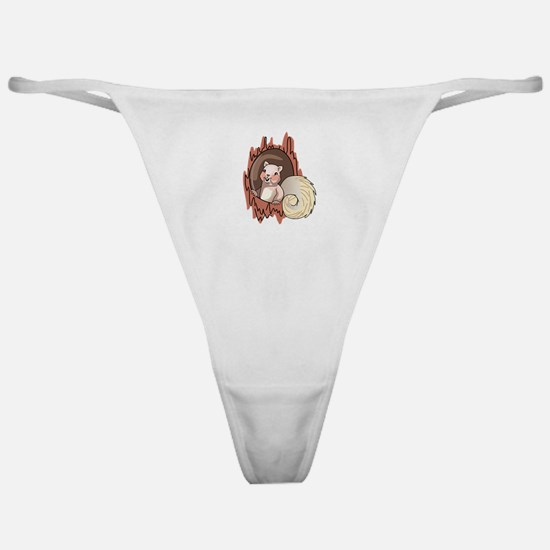Squirrel In Tree Classic Thong