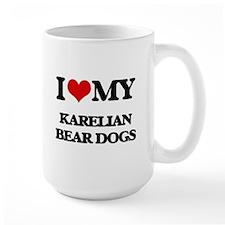 I love my Karelian Bear Dogs Mugs