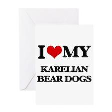I love my Karelian Bear Dogs Greeting Cards