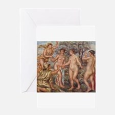 Classic nude art Greeting Cards