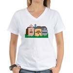 Distracted II Women's V-Neck T-Shirt