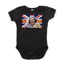 HM Queen Elizabeth II Great Britons! Baby Bodysuit