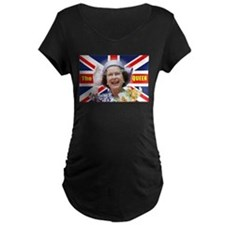 HM Queen Elizabeth II Great Brit Maternity T-Shirt