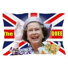 HM Queen Elizabeth II Great Britons! Pillow Case