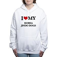 I love my Korea Jindo Do Women's Hooded Sweatshirt