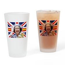 HM Queen Elizabeth II Great Britons Drinking Glass