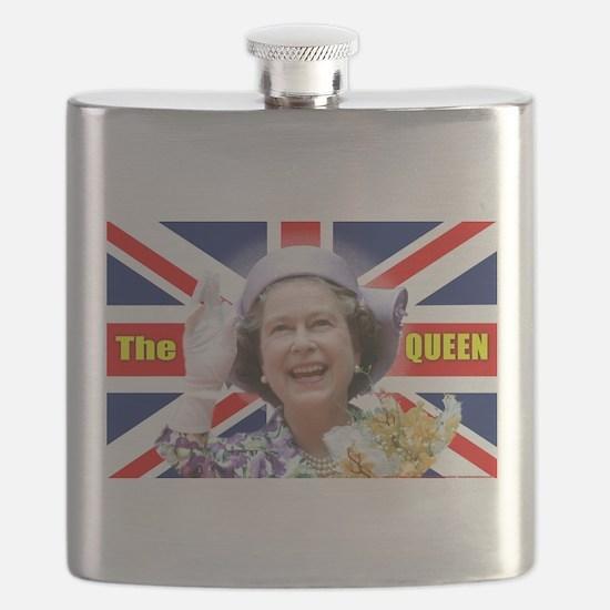 HM Queen Elizabeth II Great Britons! Flask