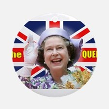 HM Queen Elizabeth II Great Brito Ornament (Round)