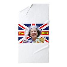 HM Queen Elizabeth II Great Britons! Beach Towel