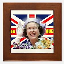 HM Queen Elizabeth II Great Britons! Framed Tile