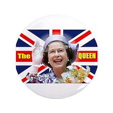 """HM Queen Elizabeth II Great Britons! 3.5"""" Button"""
