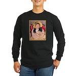 SARA & PET DOG Long Sleeve Dark T-Shirt