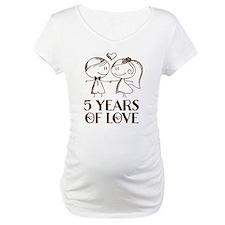 5th Anniversary chalk couple Shirt
