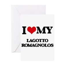 I love my Lagotto Romagnolos Greeting Cards