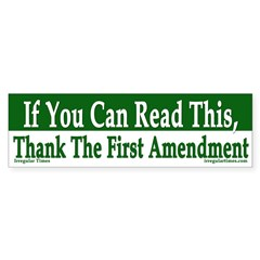 Thank the First Amendment bumper sticker