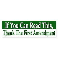 Thank the First Amendment bumper sticker