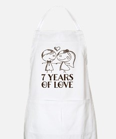 7th Anniversary chalk couple Apron