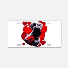 giant schnauzer natural ear Aluminum License Plate