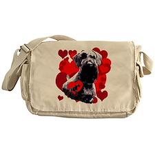 giant schnauzer natural ear Messenger Bag