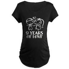 9th Anniversary chalk coupl T-Shirt