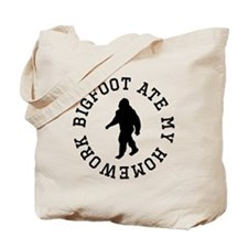Bigfoot Ate My Homework Tote Bag