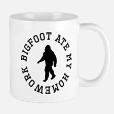 Bigfoot Ate My Homework Mugs