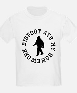 Bigfoot Ate My Homework T-Shirt