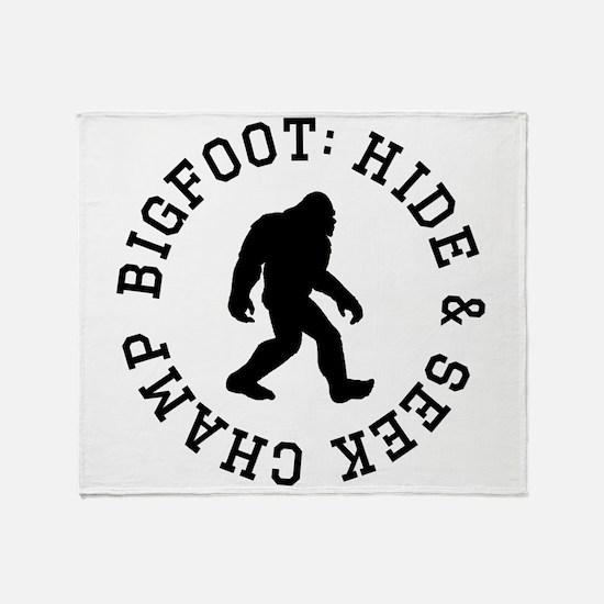 Bigfoot: Hide And Seek Champ Throw Blanket