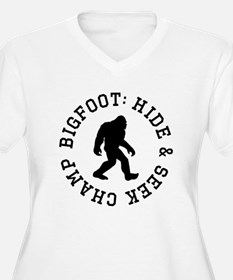 Bigfoot: Hide And Seek Champ Plus Size T-Shirt