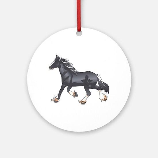 DRAFT HORSE Ornament (Round)