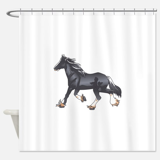 DRAFT HORSE Shower Curtain