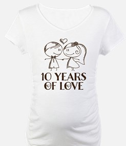 10th Anniversary chalk couple Shirt