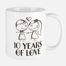 10th Anniversary chalk couple Mug