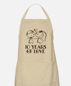 10th Anniversary chalk couple Apron