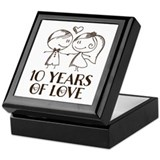 10th anniversary Keepsake Boxes