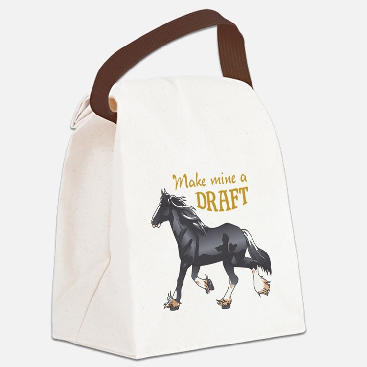 MAKE MINE A DRAFT Canvas Lunch Bag