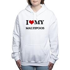 I love my Maltipoos Women's Hooded Sweatshirt
