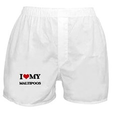 I love my Maltipoos Boxer Shorts