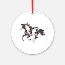PAINT HORSE Ornament (Round)